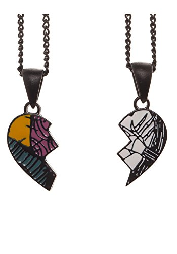 Disney Nightmare Before Christmas His & Hers Necklaces in Coffin Jewelry Set Box