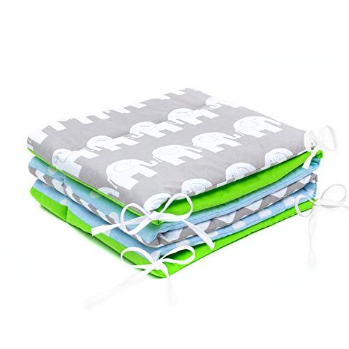 Tour de lit de bébé 420 x 30 cm, 360 x 30 cm, 180 x 30 cm Mix A2