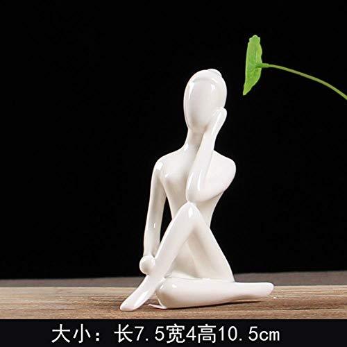 Yoga figuur kleine ornamentenrelatiegeschenkenKantoor Desktop Decoratie Ambachtelijke Gift Woninginrichting modernewoonkamer, Chocolade