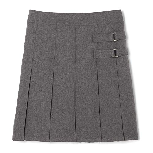 French Toast Girls' Two-Tab Pleated Scooter, Gris, 4
