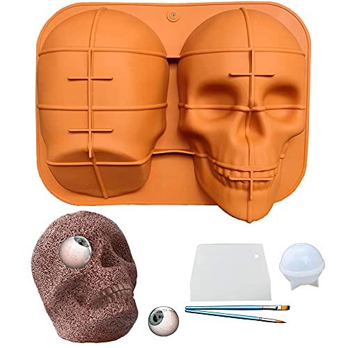 Large-Skull Baking-Pan Molds Halloween-3d Silicone - Skull Mold Haunted, Skull Cake Pan, Cake Mold, Halloween Molds, 3d Skull Cake Mold, Skull Silicone Mold, Moldes de Silicona para Reposteria
