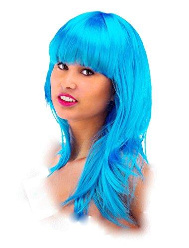 Folat 26702 – Perruque Cheveux Longs avec Frange