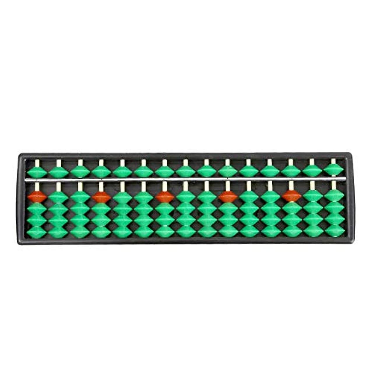地域ジャムキャリッジSANDIN 計算ツール 算術 abacus 15桁 プラスチック green