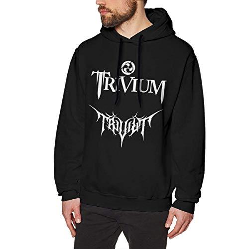 SHUNFAN Homme Sweats à Capuche, Sweat-Shirt à Capuche, Trivium Logo Mens Long Sleeve Sweatshirts Man's Hoodies Black