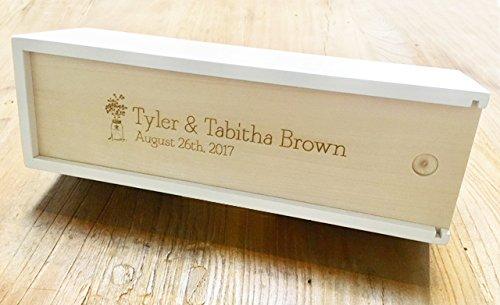 WE Games Custom Engraved Wedding Guest Book Wood Block Game in Wooden Case - 12in.