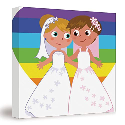 SUPNON Lesbian Couple Marriage/Canvas Wall Art, Mordern Home Decoration 12'x12' №IS066848