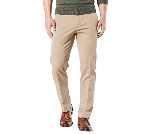 Dockers Men's Straight Fit Workday Khaki Smart 360 Flex Pants D2, Safari Beige (Stretch), 34W x 30L