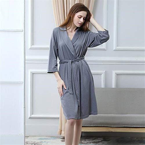 Crystallly paar badjas absorberende jacquard nachtjapon lange mouwen vest grijs pyjama eenvoudige stijl pyjama huis reizen mode comfortabele pyjama