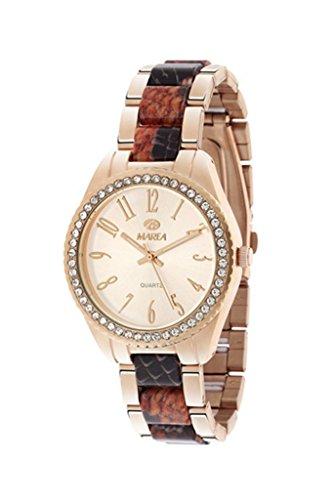 Ref. B41136/15 Reloj Marea Señora, analógico, caja de acero color rosé, brazalete bicolor, sumergible 50 metros, garantía 2 años.