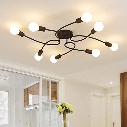 OYIPRO Moderno Lampadari Semplice Lampade a sospensione 8 E27 Per soggiorno Ristorante Studio bar Camera da letto(Senza lampadina)