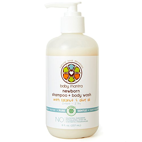 Baby Mantra 2-in-1 Shampoo and Body Wash - EWG Verified Bath Soap for Newborns, Infants, Toddlers, and Kids with Sensitive Skin, 8 Ounce Pump Bottle