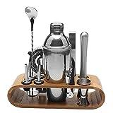 Conjunto De 12 Piezas De Acero Inoxidable Cóctel De Vino Shaker Bar Shaker Set Bartender Cocktail Hand Shaker Kit De Herramientas Con Soporte