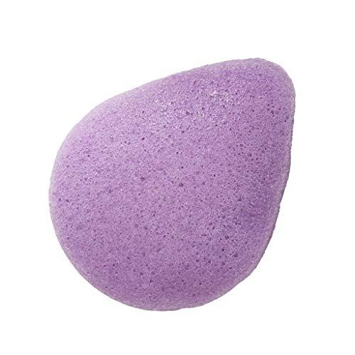 sharprepublic Konjac Nettoyage Du Visage éponge Tampons Démaquillants Exfoliant Nettoyage En Profondeur - Violet
