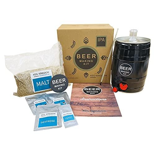 Kit de fabricación de cerveza IPA | Kit de iniciación de elaboración de cereales | Recargas reutilizables disponibles.