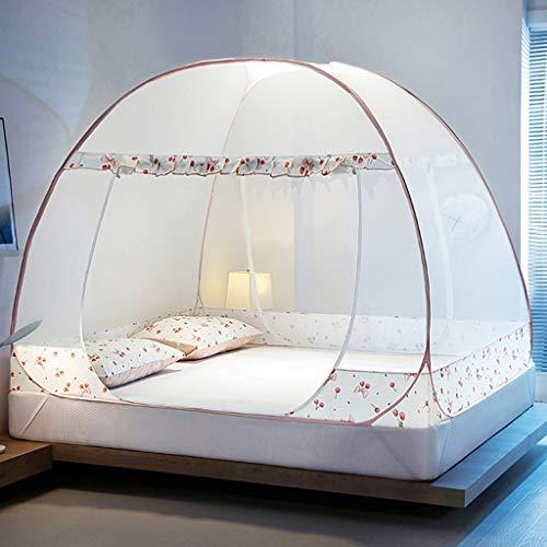 Yvst Pop-up Moskitonetz Zelt, Faltbare Moskitonetz Bett, transparente Mesh-Abdeckung Himmelbett, Vorhang Himmelbett Net Jurtennetz, geeignet for zu Hause Outdoor-Zelt (Size : 1.2 M/3.9 ft Bed Size)