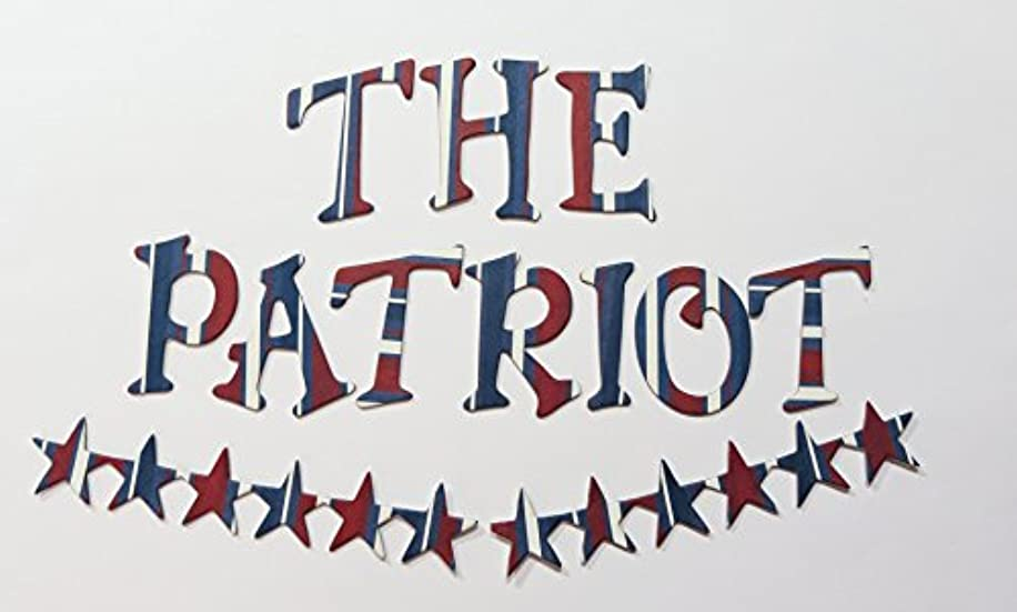 Patriot Strips Red White and Blue HandCut 1.5