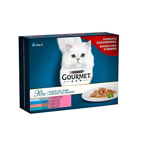 Gourmet Perle Alimento para el Gato, Piaceri del Mar con Sal