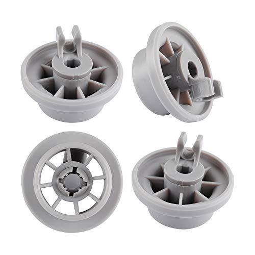 165314 Lavavajillas Ruedas Cesta Inferior Poweka para Lavavajillas Bosch Siemens Neff Reemplace AP2802428 PS3439123 (4 Piezas)