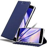 Cadorabo Hülle für OnePlus 2 in Classy DUNKEL BLAU – Handyhülle mit Magnetverschluss, Standfunktion & Kartenfach – Case Cover Schutzhülle Etui Tasche Book Klapp Style