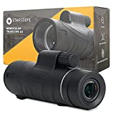 STARSCOPE 12X50 High Definition Monocular - Waterproof Monocular Telescope for Smartphone with Tripod | Handheld Telescope with BAK4 Prism | Pocket Telescope for Hunting,Bird Watching and Camping