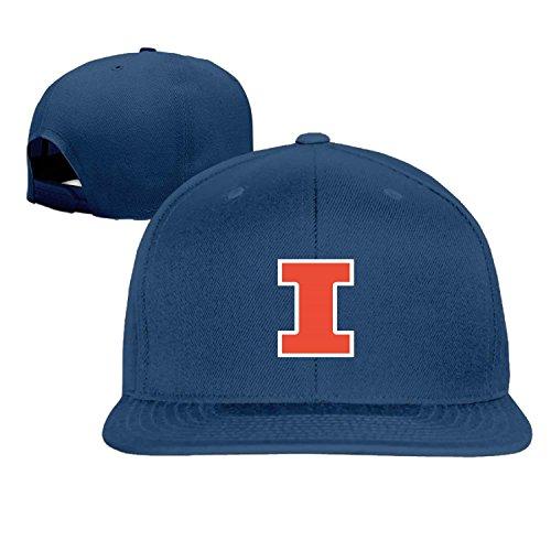 Hittings Men Women UIUC Illinois Fighting Illini Truck baseball Cap Snapback Blue
