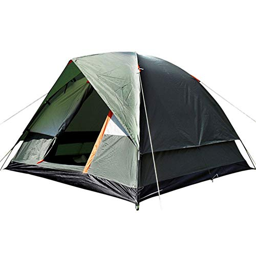 Tent outdoor rainstorm-proof camping 3-4 people double-layer super waterproof laminated camping