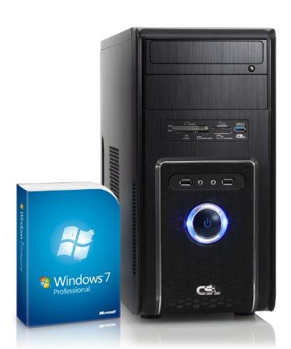 CSL Sprint 5787Pro inkl. Windows 7 Pro - AMD A8-6600K APU 4X 3900MHz, 16GB RAM, 1000GB HDD, Radeon HD 8570D, DVD, USB 3.1