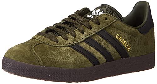 adidas Gazelle, Sneaker Hombre, Night Cargo/Core Black/Gum, 42 2/3 EU