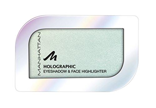 Manhattan Holographic Ombre Eyeshadow, Farbe 002 Minted Meteor, Lidschatten mit holographischem Effekt in Türkis, 1er Pack (1 x 4 g)