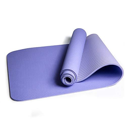 SlimpleStudio Sportmatte für Yoga, Pilates,Fitness usw -TPE Yogamatte Umweltschutz verbreitert verdickte Fitnessmatte zweifarbige Sportgymnastik allgemeine Yogamatte-Helles Lila