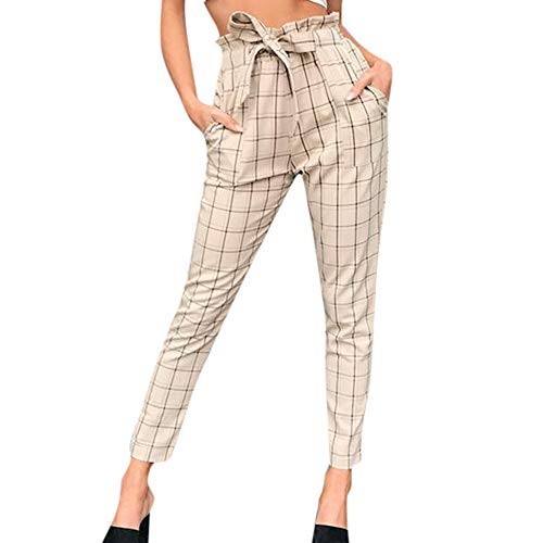 Manadlian-Pantalon Femme Taille Haute, Slim Femmes Treillis Pants, Crayon Pantalon pour Femme Pantalon de Yoga