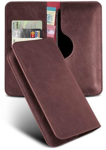 moex Handyhülle für ZTE Blade 10 Hülle Klappbar mit Kartenfach, Schutzhülle aus Vegan Leder, Klapphülle zum Einstecken, 360 Grad Schutz Flip-Hülle Handytasche - Weinrot