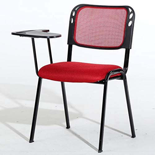 ZHEDYI Schreibtischstuhl,Tragbarer stapelbare Leichte Klappstuhl, Gartenmöbel Bürostuhl for Party Gastronomie Camping Garten, Unterstützt 150kg, 83 * 50 * 44cm (Color : Red)