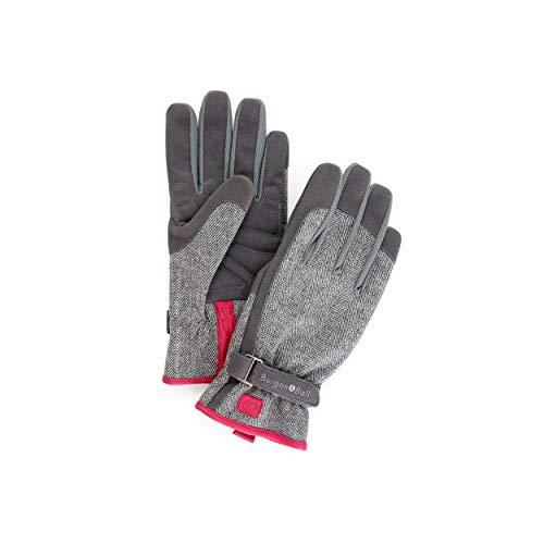 Burgon & Ball - Love the Glove – Gants de jardinage pour femme – Tweed gris SM