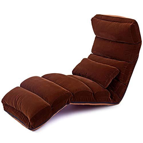 HPKJ Chaise Longue de Salon de Sofa-lit de Mode de Chaise de Sofa Paresseux de Sol avec l'oreiller, Chaise Pliante réglable de Plancher de Loisirs de Maison, Multicolore en Option,E