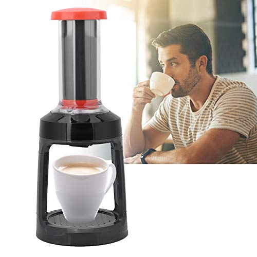 French Press Coffee Maker, Single Serve Manual Hand Coffee Maker Brewer for K-Cup Pod, Compatible with Ground Coffee & Tea, for Travel Camping Kitchen Office