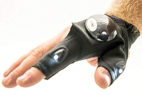 Glove lite Mitaine avec lampe de poche à LED