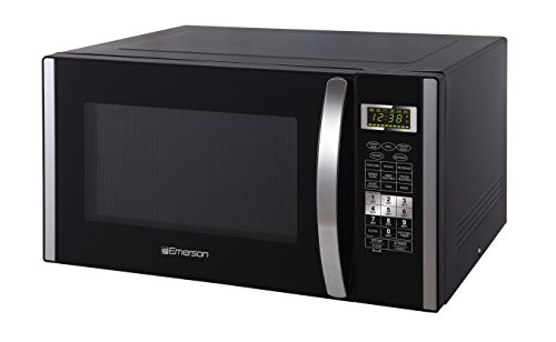 Emerson 1.5 CU. FT. 1000W Convection Microwave Oven with Grill Touch Control Countertop, Stainless Steel and Black Cabinet, MWCG1584SB