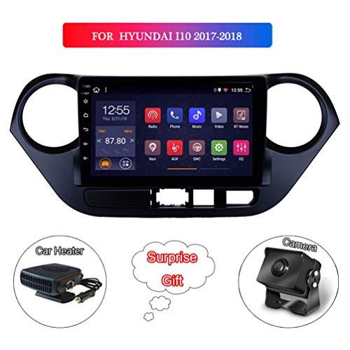 XMZWD 9 Zoll 2G Ram 32G Rom Android 8.1 Full Touch Auto Multimedia System, Für Hyundai I10 2017-2018 GPS Radio Navigation Mit WiFi (Enthalten Kamera/Auto Heizung)