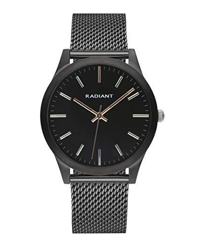 Reloj analógico para Hombre de Radiant. Colección Light&Shadow. Reloj Negro con Malla milanesa y Esfera Negra. 3ATM. 40mm. Referencia RA553603.
