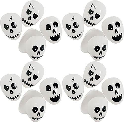 Happy Deals~ Skull Egg Containers   Halloween Plastic Favor Containers   12 Pack   Easter / Halloween Eggs