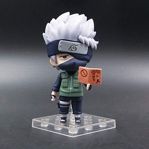 Aoemone Naruto Shippuden Hatake Kakashi Q Versión Nendoroid Figuras De Acción con Accesorios Figuras De Anime Móviles Estatua Juguete Juego De Dibujos Animados Modelo De Personaje Decoraciones
