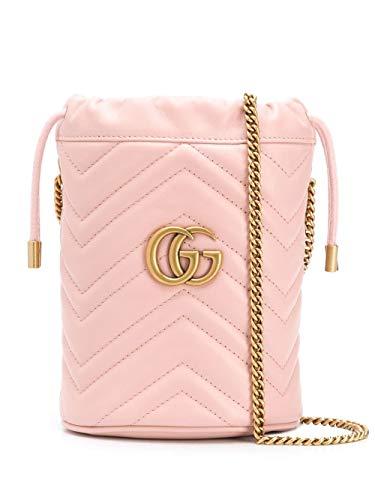 Gucci Luxury Fashion Donna 575163DTDRT5909 Rosa Pelle Borsa A Spalla |...