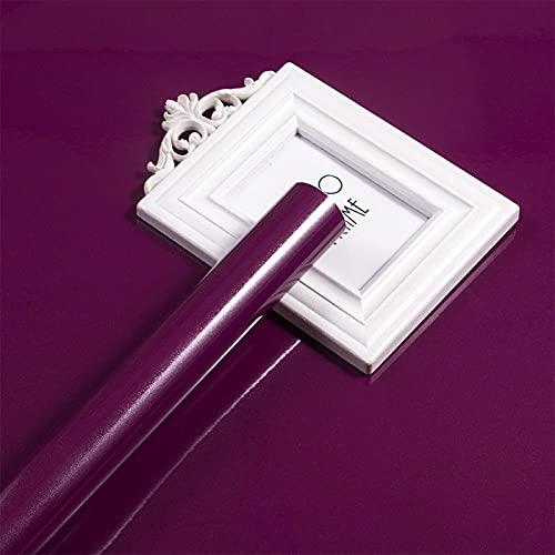 Adhesivo a prueba de aceite autoadhesivo para papel pintado Pearly Purple40X500 cm Peel and Stick Waterproof para cocina, cajón, revestimiento de estantería, armario Backsplash