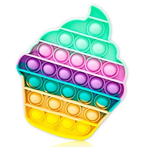 Fidget Toy Poppit Antistress Popit Torta Game Pop Bubble de Copa Toys - Juguete antiestrés a fin de tensión - Juguete sensorial - El autismo alivia la ansiedad para niños y adultos