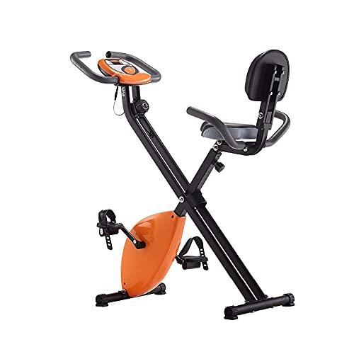 Bicicleta de entrenamiento para el hogar: bicicleta de ejercicios reclinada y posiciones de bicicleta de ciclismo en interiores verticales, máquina de bicicleta estática plegable de resistencia magné