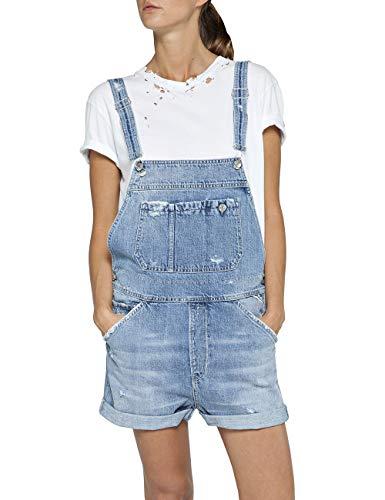 Replay Damen W1030 .000.50C 456 Shorts, Blau (Light Blue 10), W27(Herstellergröße: 27)