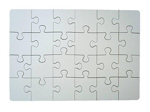 Geschenkhaus-Tom Puzzle aus Holz zum bemalen 24 teilig selbst gestalten Holzpuzzle Gästebuch für Hochzeit Feier