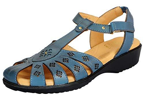 Dr. Scholl's Women's Blue Fashion Sandal - 7 UK