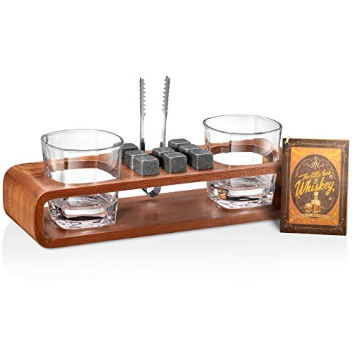 Whiskey Stones Gift Set with Stand | 13-Piece Handcrafted Whiskey...